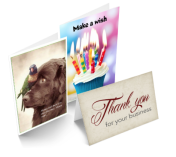 Image of various greeting and thank you cards